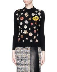 Alexander McQueen | Glass Crystal Embellished Cashmere Sweater | Lyst
