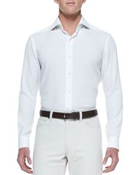 Ermenegildo Zegna Long-Sleeve Shirt - Lyst