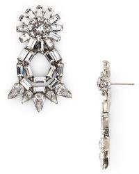 Dannijo Crystal Loop Earrings - Lyst