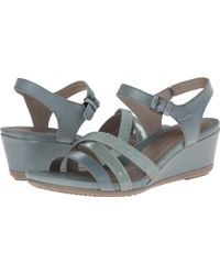 Ecco Touch 45 Wedge Sandal - Lyst