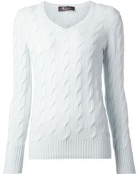 Loro Piana Cable Knit Sweater - Lyst