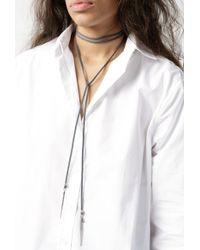 Vanessa Mooney | Silver Mien Dagger Wrap Choker | Lyst
