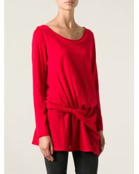 Alberta Ferretti Ruched Long Sleeved Sweater - Lyst