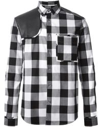 McQ by Alexander McQueen Contrasting Panels Checked Shirt - Lyst