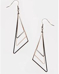 Asos Abstract Triangle Earrings - Lyst