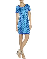 Nicole Miller Hinley Graphic Double Knit Tshirt Dress - Lyst