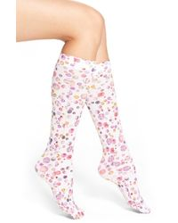 Strathcona - Polka Dot Knee High Trouser Socks - Lyst