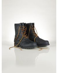 Polo Ralph Lauren Leather Whitsand Boot black - Lyst