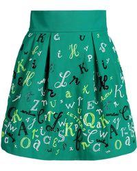Olympia Le-Tan Knee Length Skirt green - Lyst
