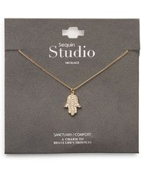 Sequin - Pavã Hamsa Hand Necklace - Lyst