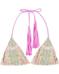 Anna Sui Love Birds Printed Bikini Briefs pink - Lyst