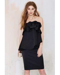 Nasty Gal Serendipity Layered Dress black - Lyst