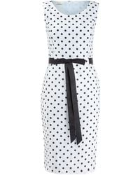 Precis Petite Powder Blue Spot Crinkle Dress - Lyst