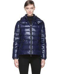 Moncler Royal Blue Nylon Bady Laquered Jacket - Lyst