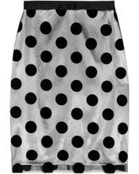 Lulu & Co Polka-dot Flocked-tulle and Satin Skirt - Lyst