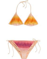 Missoni Mare Knit Triangle Bikini - Lyst