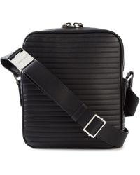 Dior Homme Ribbed Effect Messenger Bag - Lyst