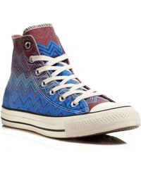 Converse Lace Up Sneakers - Missoni All Star High Top - Lyst