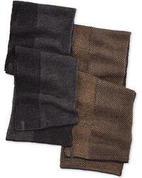 Calvin Klein Multistitch Tweed Muffler - Lyst