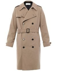 Saint Laurent Double-breasted Trench Coat - Lyst