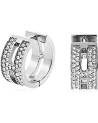 Michael Kors - Brilliance Pave Hug Earrings - Lyst