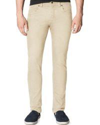 Calvin Klein Khaki Slimstraight Pants - Lyst