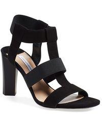 Diane von Furstenberg | Selah Caged Suede Sandals  | Lyst