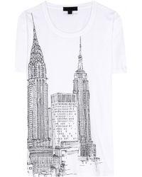 Burberry Prorsum - Printed Cotton Tshirt - Lyst