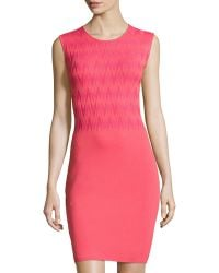 Marc New York By Andrew Marc Arrowhead-Pattern Sleeveless Sheath Dress - Lyst