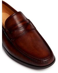 Magnanni | Leather Moccasin Penny Loafers | Lyst