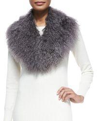 Monique Lhuillier - Lamb Fur Collar - Lyst