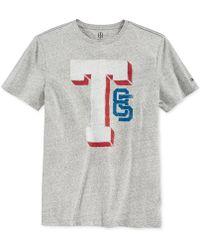 Tommy Hilfiger Grey Letterman T-Shirt gray - Lyst