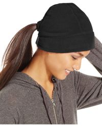 Style & Co. - Style&co. Fleece Hat With Ponytail Loop - Lyst