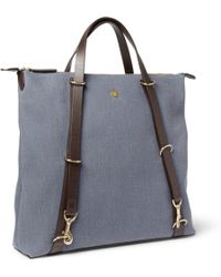 Mismo Convertible Leathertrimmed Canvas Tote Bag - Lyst