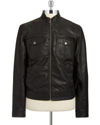 Michael Kors Faux Leather Bomber Jacket - Lyst