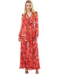 Akira Black Label Sitting Pretty Red Print Maxi Dress - Lyst