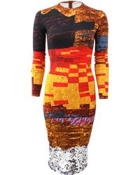 Givenchy Mosaic Pixel Print Dress - Lyst