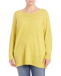 Eileen Fisher | Organic Linen & Cotton Top | Lyst