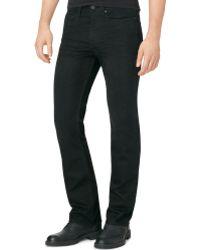Calvin Klein Modern Bootcut Wornin Black Jeans - Lyst