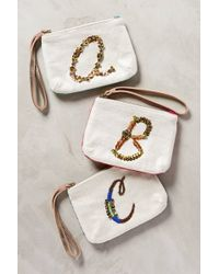 Miss Albright - Monogram Pouch - Lyst