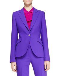 ESCADA Long-Sleeve Wool Blazer - Lyst