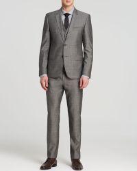 Hugo Boss Hugo Fil-A-Fil Textured Solid Three-Piece Suit - Slim Fit - Bloomingdale'S Exclusive gray - Lyst