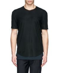 Maison Margiela Jersey Underlay Tech T-Shirt - Lyst