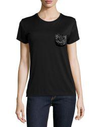 Pink Pony - Short-sleeve T-shirt W/embellished Pocket - Lyst
