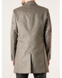 Diesel Single Breasted Coat beige - Lyst