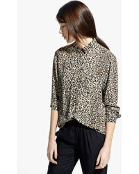 Mango Leopard Print Shirt - Lyst