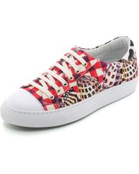 Temperley London Coralie Leopard Canvas Sneakers - Red/Brown - Lyst