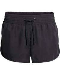 H&M Black Sports Shorts - Lyst