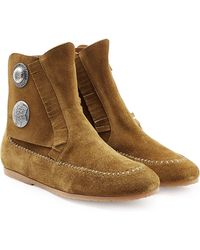 Giuseppe Zanotti Suede Moccasin Boots - Lyst