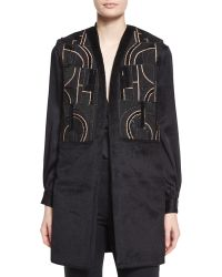 Maiyet - Abstract-Beaded Textured Long Vest - Lyst